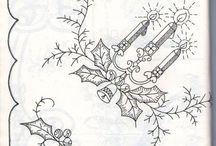Новогодняя тематика рисунки