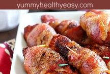 Bacon wrapped chicken