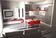 Cucine salotto open space