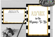 Baby Shower Games Black Stripes, Invitations, Decorations and more... / Hi, thank you for visiting this beautiful baby shower board with black stripes theme. Here you can find a lot of baby shower decorations and activities with over 40 listings in this theme.