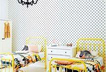 Yellow girls bedroom