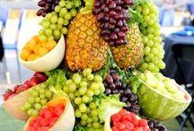 Wedding fruit displays