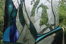 KUrved lines Glass Art / Glass Art