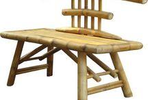 Garden furniture bamboo