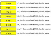 New April Special Offers / Discounted reg marks for April