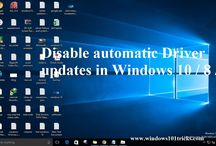 Disable Stop automatic Driver updates in Windows 10 / 8 / 7
