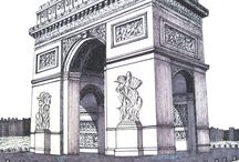 FAMOUS HISTORIC BUILDINGS CATHEDRALS AND MONUMENTS Drawings