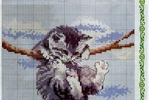 cat cross stich