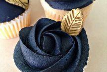 cafe elegante y cupcake