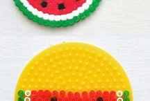 Fruit strijkkralen patronen