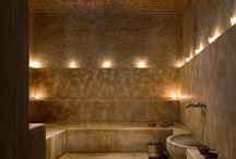 saunas and bathrooms