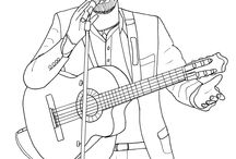 Celebrities coloring pages / Do you know this celebrities ? who are them ?