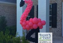 Tropical Balloon Decor / The perfect addition to your event. Great for corporate Luaus or sassy birthday parties!  Our balloon sculptures will create memories!
