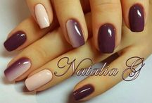 nails burgundy