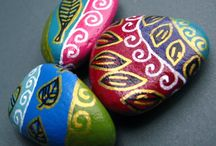 painted stones and pebbles