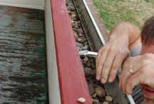Gutter Gardens / Re-purposing gutters to plant space saving gardens. See more of our tips for recycling old windows, doors, and gutters at: http://marshallbuildingandremodeling.com/2013/03/re-purpose-old-windows-doors-and-gutters/