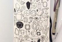 Doodly, kresby, ilustrace, psaní, barvičky,..