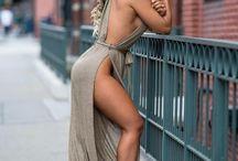 Nice slutty dress with slit!