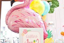 Tropical flamingo party