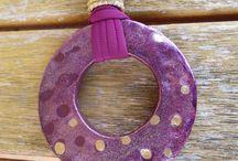 Donut pendant / Handmade donut clay pendant