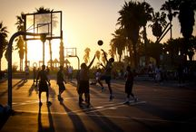 basketball sunset