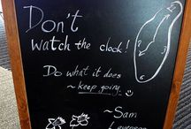 The Library entrance blackboard / Curiously quirky blackboard murals images from the entrance to our Library - variously motivational, inspirational, informative, quizzical, and just plain fun. Check out today's in person if you are passing!