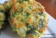 Cheesy broccoli paties