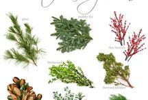 Natural wreaths and arrangements