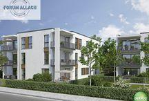 """Neu ⌂ FORUM ALLACH / Im Projekt """"FORUM Allach"""" erwarten euch attraktive und moderne 1- bis 4-Zimmer-Eigentumswohnungen in München-Allach."""