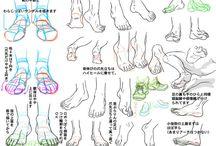 足 描き方