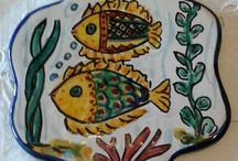 Poggia caffettiera in ceramica dipinto a mano., by ilciliegio, 9,00 € su misshobby.com
