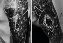 skull/demonic tattoos