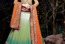 Designer Lehnga Choli / Lehnga choli are the most traditional indian ethnic wear. variety of lehnga in material like net, chiffon, Georgette, velvet etc. with heavy work of stones, pearl, motif, thread, zardosi etc. gives you a stunning look in any wedding or occasion. Indian trendz is the store where you can choose from thousand of designer lehnga and have that pretty look in your wedding functions like mehandi, sangeet, reception  or your friend's wedding.