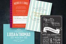 Hochzeits-Einladungen zum selberdrucken / Hochzeitseinladungen zum downloaden ... für kleine Budgets, kostengünstig individuell angepasst