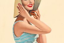 Pin up - Retro girl / All about retros picture, Elvgreen's, etc..
