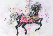 Carousel horses / by Barbara Bradford