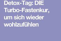 Detox den Körper entgiften / Wie man den Körper am Besten entgiftet.