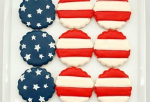 Red, White & Blue Eats / Patriotic sweet treats, drinks, snacks and other food items.