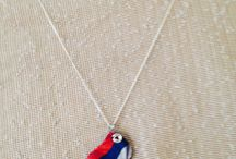 Serbian flag pendant Necklace Hands Made by Medita1craft on Etsy