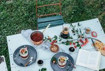 *OUTDOOR GATHERINGS* / Dinner our lunch outside, somewhere in nature with a small group of friends .....