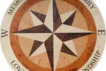 Peregrine's Wood Floor Medallion Inlay
