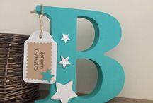 Decorative wood letters