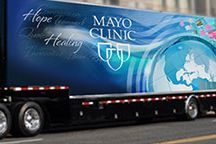 #MayoClinic150 / The Mayo Clinic mobile exhibit celebrating the 150th anniversary of Mayo Clinic is taking part in a tour of the United States and Canada. This board will feature photos from stops in Mayo Clinic Health System communities.