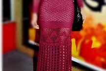 Crochet dress-skirt