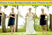 10 Ways Your Bridesmaids are There to Help / Here are 10 ways your bridesmaids are there to make your wedding planning and wedding day a breeze.  http://www.kimberleyandkev.com/10-ways-bridesmaids-help/