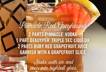 Pinnacle® Red Greyhound- Get ready for Fall TV Premieres! / A premium vodka to cheers to the return of all your favorite fictional friends.