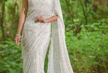 Rouge Burst Pure Silk-Chiffon Printed Saree / PRICE INR 8,145/-; US$ 123.41 To buy click here https://www.eastandgrace.com/products/rouge-burst-saree Featuring the Rouge Burst pure silk-chiffon white saree with an adorable, simple floral print and satin edging. The blouse is embellished with white pearls and has a pleated back with closure. It comes with an unstitched blended raw-silk blouse piece and an unstitched matching lycra-satin petticoat fabric. Reach us: care@eastandgrace.com