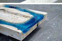 Resin - wood - glass