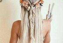 Vestidos e penteados