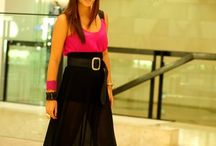 Black maxi skirts
